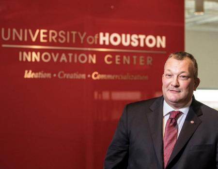 Mark Clarke in the Innovation Center at the UH Technology Bridge
